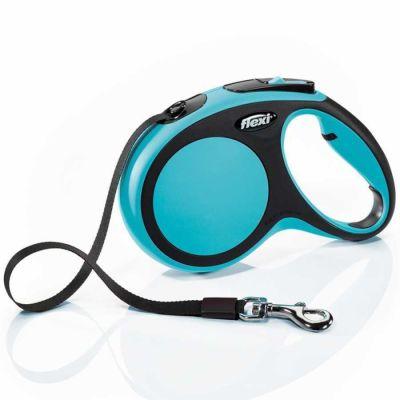 Flexi - Flexi New Comfort Otomatik Şerit Köpek Gezdirme Tasması L 60KG 5M MAVİ