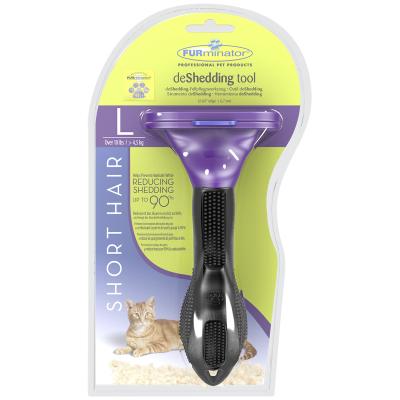 Furminator - Furminator Short Hair Kısa Tüylü Kedi Tarağı Large