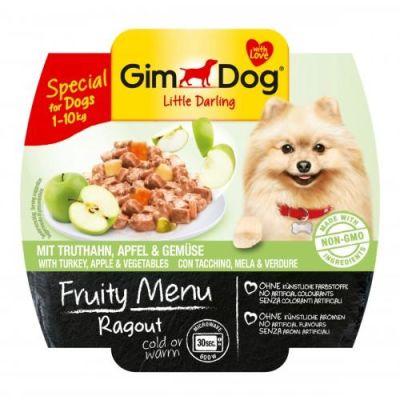 Gimdog - Gimdog Fruity Hindi Elma Sebzeli Köpek Konservesi 100gr