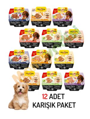 Gimdog - Gimdog Fruity Menu Tahılsız Köpek Konservesi 100 Gr 12 Lİ PAKET