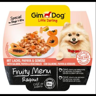 Gimdog - Gimdog Fruity Somon Papayalı Sebzeli Köpek Konservesi 100gr