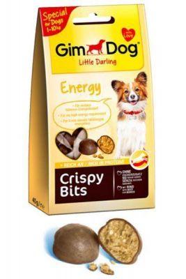 Gimdog - Gimdog Little Darling Crispy Bits Energy Gevrek Köpek Ödül Topları 40 gr