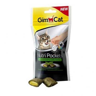 Gimcat - Gimpet Gimcat Nutripockets Kedi Ödülü Kedi Otu&Multivitamin 60Gr