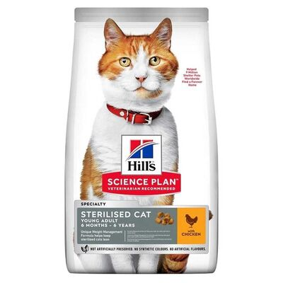 Hills - Hills Adult Tavuklu Kısırlaştırılmış Yetişkin Kedi Maması 1.5 Kg