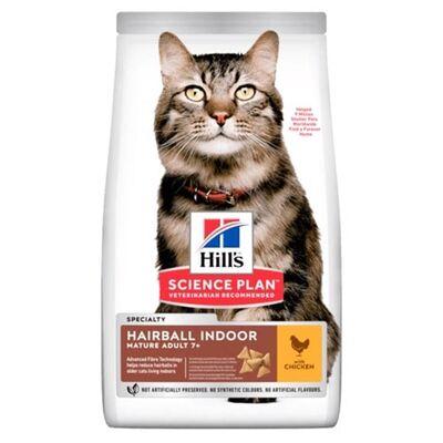 Hills - Hills Feline Hairball & İndoor Yetişkin Kuru Kedi Maması 1,5 Kg