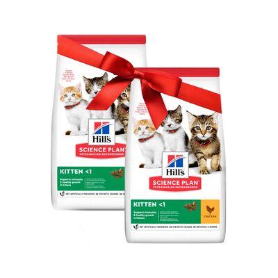 Hills - Hills Kitten 300+300gr Fırsat Paketi Tavuklu Yavru Kedi Maması