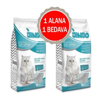 Jingo - Jingo Marsilya Sabun Kokulu Bentonit Kedi Kumu Kalın Taneli 10 L - 2 ADET
