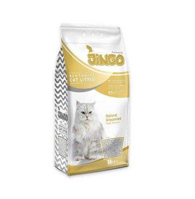 Jingo - Jingo Naturel Bentonit Kedi Kumu İnce Taneli 10 L