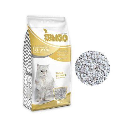 Jingo - Jingo Naturel Bentonit Kedi Kumu Kalın Taneli 10 L