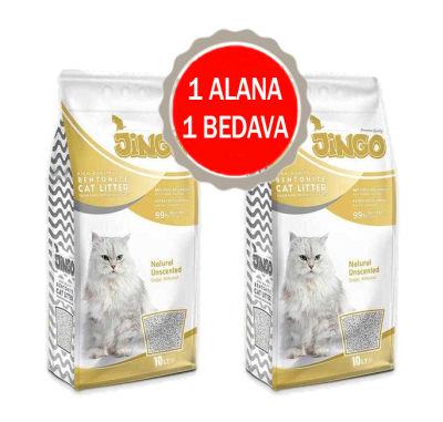 Jingo - Jingo Naturel Bentonit Kedi Kumu Kalın Taneli 5 L - 2 ADET