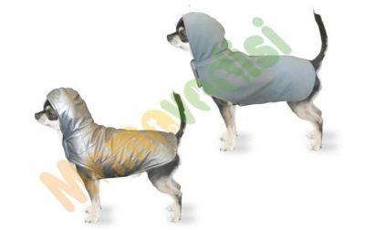 Diğer - Kapüşonlu Çift Taraflı Köpek Kıyafeti Gri Mavi