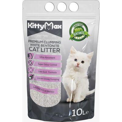 KittyMax - KittyMax Lavana Kokulu Kalın Taneli Bentonit Kedi Kumu 10 LT