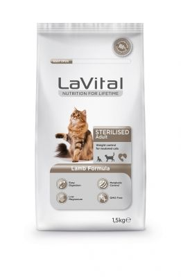 La Vital - La Vital Kuzu Etli Kısırlaştırılmış Kedi Maması 1,5 KG
