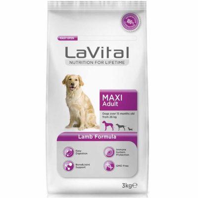 La Vital - LaVital Büyük Irk Kuzu Etli Yetişkin Köpek Maması 3 Kg