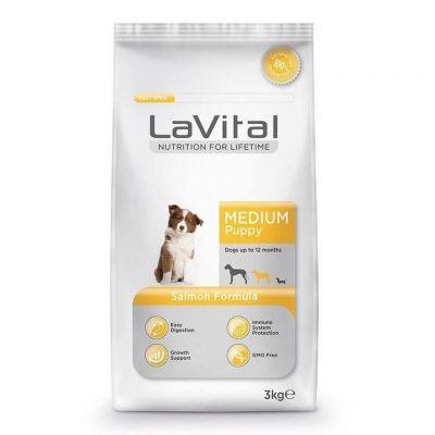 La Vital - LaVital Orta Irk Somon Balıklı Yavru Köpek Maması 3 Kg