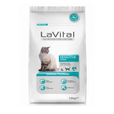 La Vital - LaVital Sensitive Somon Balıklı Yetişkin Kedi Maması 1.5 kg
