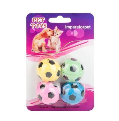 Lion - Lion Futbol Topu Kedi Oyuncağı 4 Lü 4cm