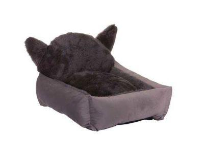 Lion - Lion Kulaklı Kedi Yatağı Gri