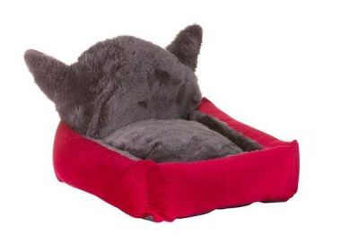 Lion - Lion Kulaklı Kedi Yatağı Kırmızı