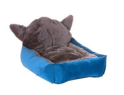 Lion - Lion Kulaklı Kedi Yatağı Mavi