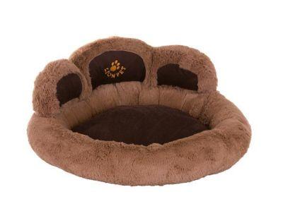 Lion - Lion Pati Şeklinde Kedi Ve Köpek Yatağı 50 cm AÇIK KAHVE