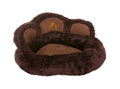 Lion - Lion Pati Şeklinde Kedi Ve Köpek Yatağı 50 cm KOYU KAHVE