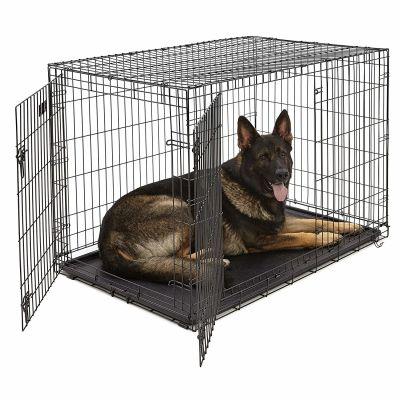 Lion - Lion İki Kapılı Katlanabilir Metal Köpek Kafesi 107x71x76Cm