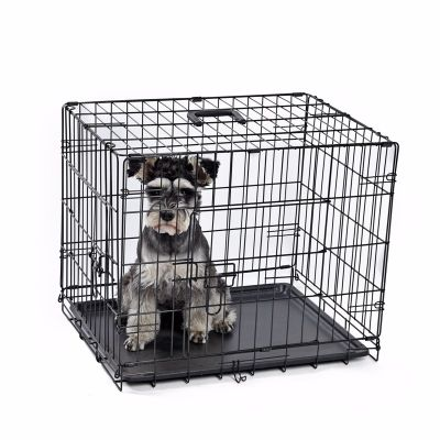Lion - Lion İki Kapılı Katlanabilir Metal Köpek Kafesi 61x46x48Cm