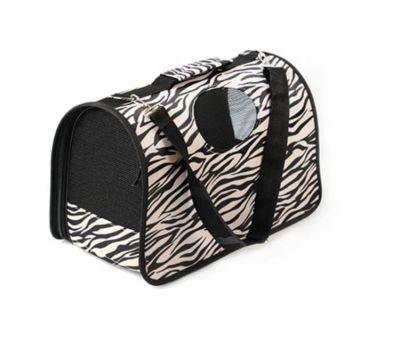 Miapet - Miapet Yavru Kedi ve Köpek Taşıma Çantası Small 37 Cm Zebra