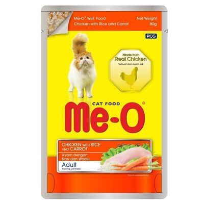 Me-o - ME-O Tavuk Pirinç ve Havuçlu Pouch Kedi Konservesi 80gr
