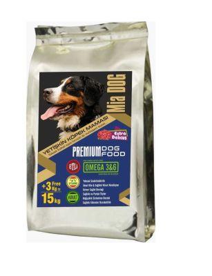 Mia - Mia Dog Etli Yetişkin Köpek Maması 12+3KG BONUS PAKET