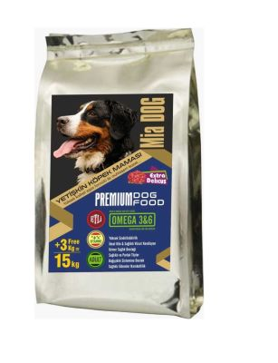 Miapet - Mia Dog Etli Yetişkin Köpek Maması 12+3KG BONUS PAKET
