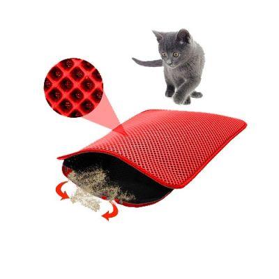 Mia - Mia Cat Elekli Kedi Tuvalet Önü Paspası 60 x 45 cm KIRMIZI