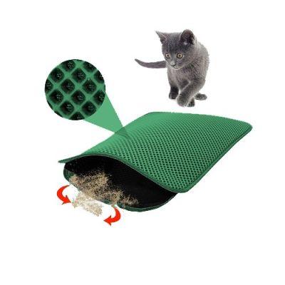 Mia - Mia Cat Elekli Kedi Tuvalet Önü Paspası 60 x 45 cm YEŞİL