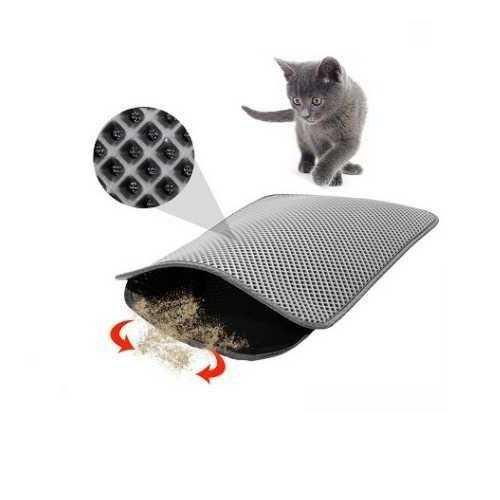 Miapet Elekli Kedi Tuvalet Önü Paspası 90 x 59 Cm Gri