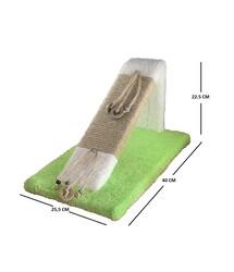 Miapet Ahşap Kedi Tırmalama Rampası Yeşil  - Thumbnail