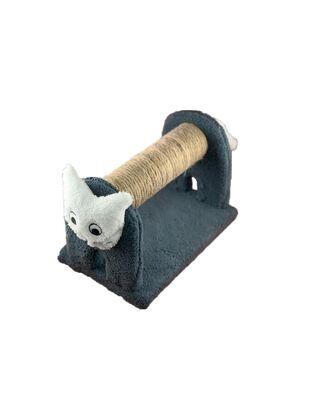 Miapet - Miapet Ahşap Kedi Tırmalama Tahtası Cat Face Gri