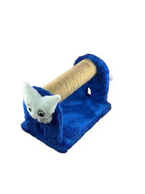 Miapet - Miapet Ahşap Kedi Tırmalama Tahtası Cat Face Lacivert