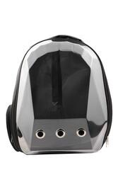 Miapet Corner Şeffaf Astronot Kedi Köpek Taşıma Çantası 42x22x33 Cm Siyah - Thumbnail