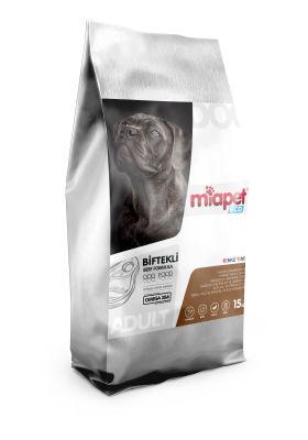 Miapet - Miapet Eco Biftekli Renkli Taneli Yetişkin Köpek Maması 15 KG