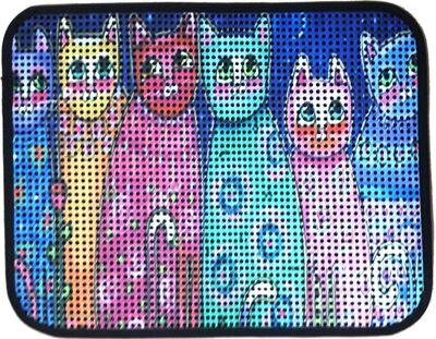 Miapet - Miapet Elekli Desenli Kedi Tuvalet Önü Paspası 60 x 45 cm Altı Kedi