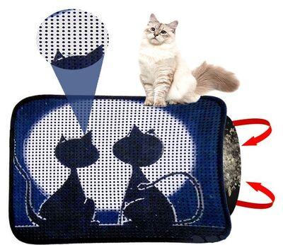 Miapet - Miapet Elekli Desenli Kedi Tuvalet Önü Paspası 60 x 45 cm Ay