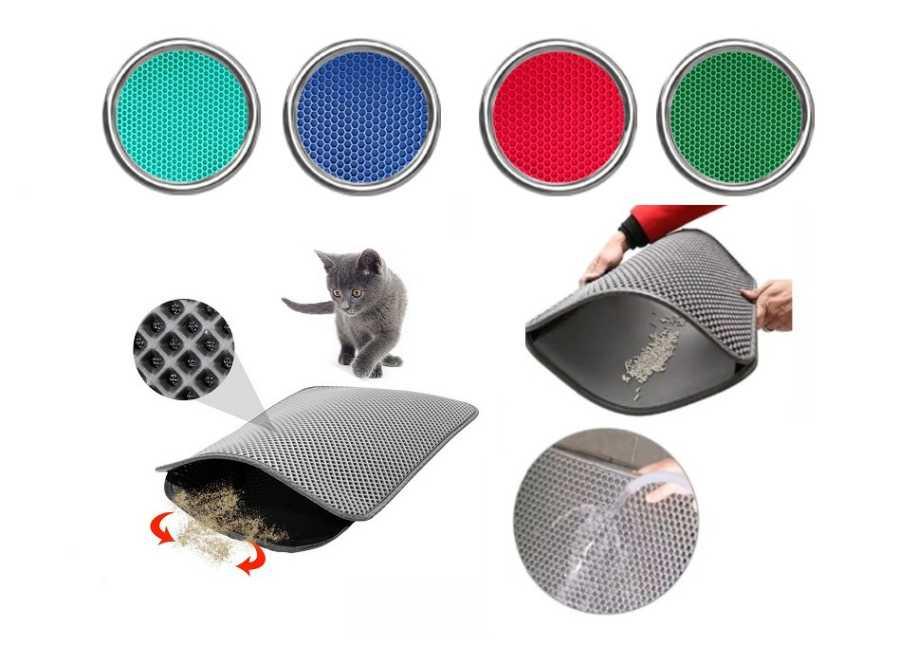 Miapet Elekli Kedi Tuvalet Önü Paspası 60 x 45 cm GRİ