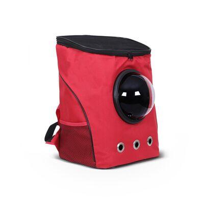 Miapet - Miapet Fanuslu Kedi Köpek Taşıma Çantası Kırmızı 45 Cm