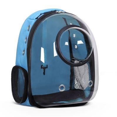 Miapet - Miapet Fanuslu Şeffaf Astronot Kedi Köpek Taşıma Çantası 42x22x33 Cm Mavi
