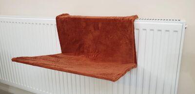 Miapet - Miapet Kalorifer Üstü Askılı Kedi Yatağı 47x35 cm Kiremit