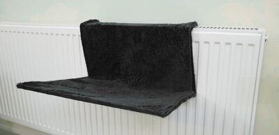 Miapet - Miapet Kalorifer Üstü Askılı Kedi Yatağı 47x35 cm Siyah