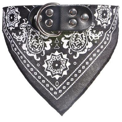 Miapet - Miapet Kedi-Köpek Fularlı Boyun Tasması Siyah 2x45cm