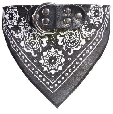 Miapet - Miapet Kedi-Köpek Fularlı Boyun Tasması Siyah 3x55cm