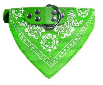 Miapet - Miapet Kedi-Köpek Fularlı Boyun Tasması Yeşil 3x55cm